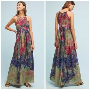 Anthropologie Bhanuni Abstracted Floral Maxi Dress